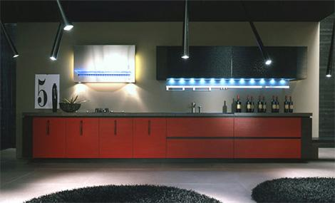 contemporary kitchen lighting-warm atmosphere