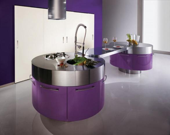 moderne und runde Küche-Design